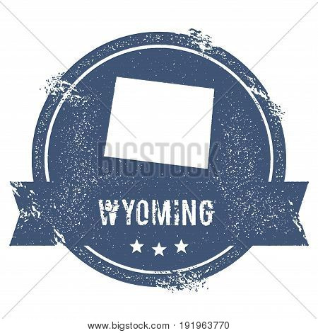 Wyoming Mark. Travel Rubber Stamp With The Name And Map Of Wyoming, Vector Illustration. Can Be Used