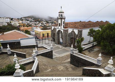 valverde church birds view, El Hierro, Canary Island, Spain