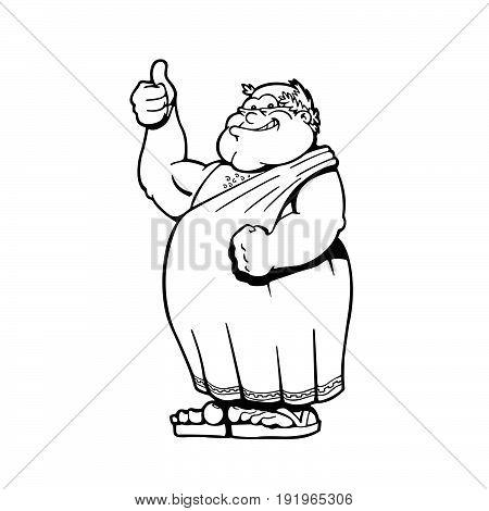 Roman Emperors Cartoons character . Vector Illustration.