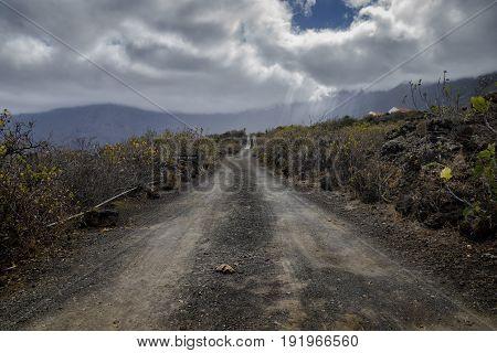 Dusty Road In El Golfo Valley