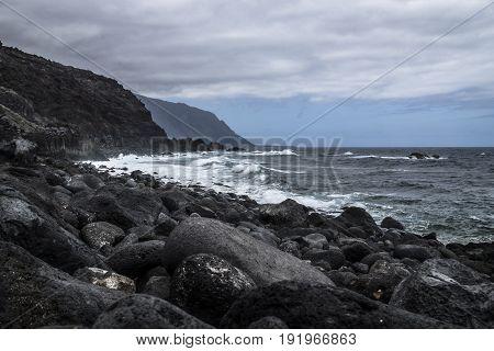 Stormy Cliff Coast, El Hierro