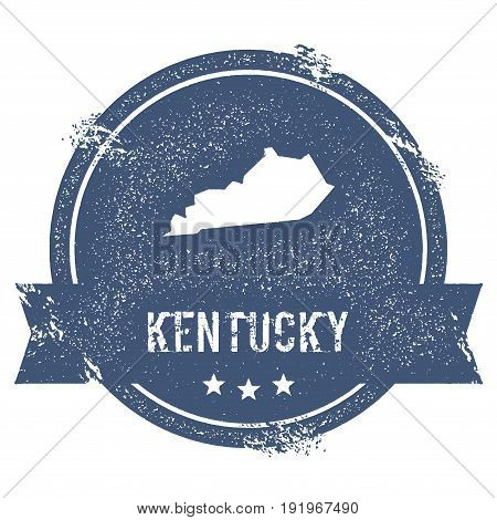 Kentucky Mark. Travel Rubber Stamp With The Name And Map Of Kentucky, Vector Illustration. Can Be Us