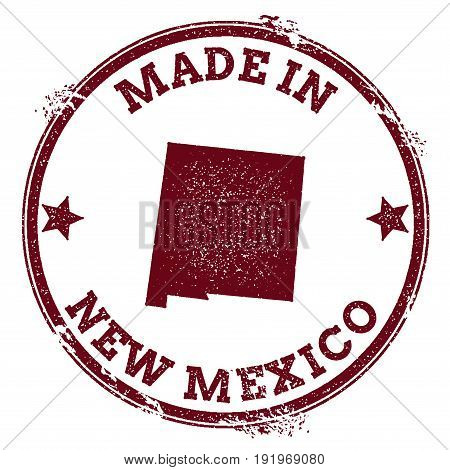 New Mexico Vector Seal. Vintage Usa State Map Stamp. Grunge Rubber Stamp With Made In New Mexico Tex