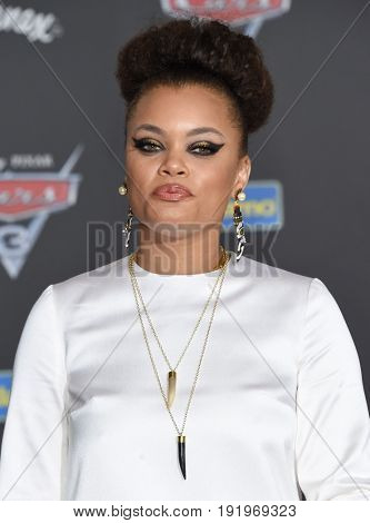 LOS ANGELES - JUN 10:  Andra Day arrives for the