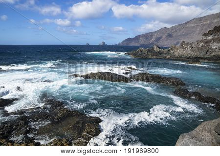 El Golfo natural pool El Hierro, Canary islands, Spain