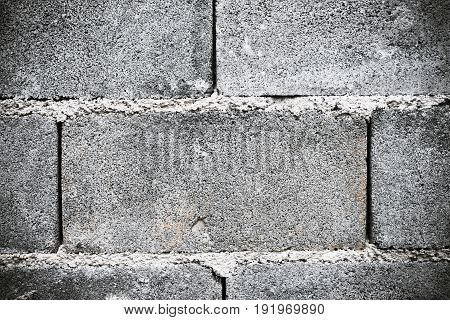 Old abstract cinderblock wall (block)background and texture.