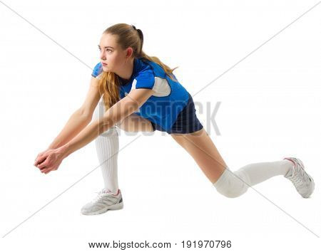 Young woman voleyball player (ver without ball)