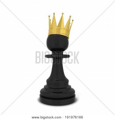 Chess Pawn With A Crown