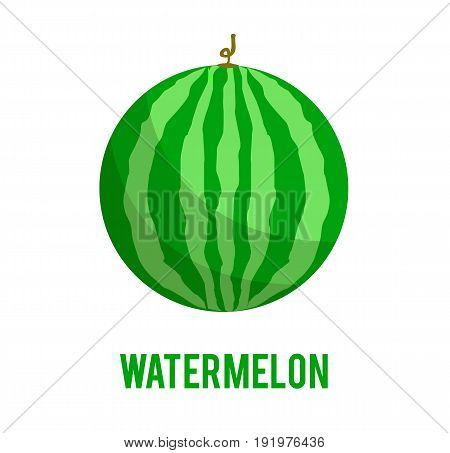 Watermelon icon in flat style. Isolated on white background. Watermelon logo. Vector stock.