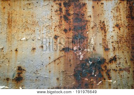 Dark worn rusty old metal texture background.