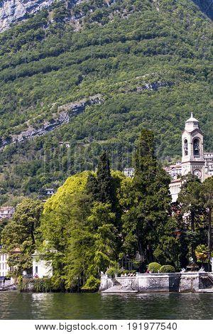 Chiesa Di San Lorenzo In Mezzegra On Como Lake In Italy