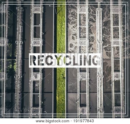 Waste Management. Recycling.aerial View Of Sewage Treatment Plant In Poland.