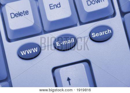 Computer Keyboard With Internet Keys