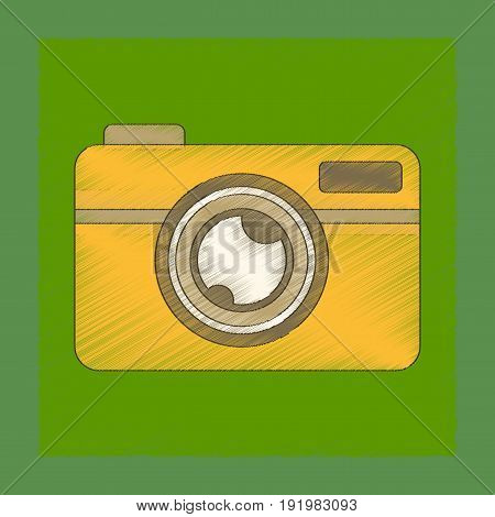 flat shading style icon of camera technology
