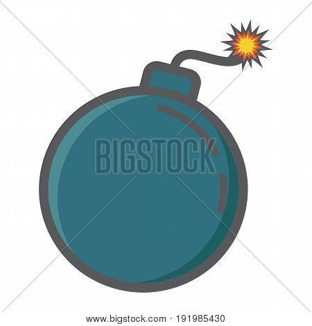 Bomb colorful line icon, dynamite and danger, vector graphics, a filled pattern on a white background, eps 10.