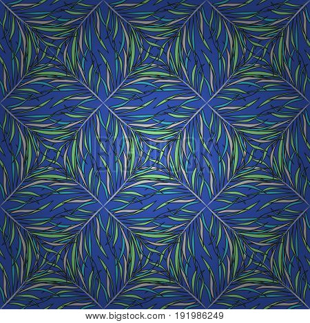 Multicolor ornament of small simple leaves vector abstract seamless pattern for fabric or textile design.
