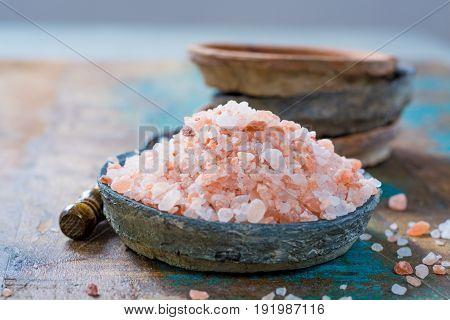 Pink salt from the Himalayas - natural rock salt