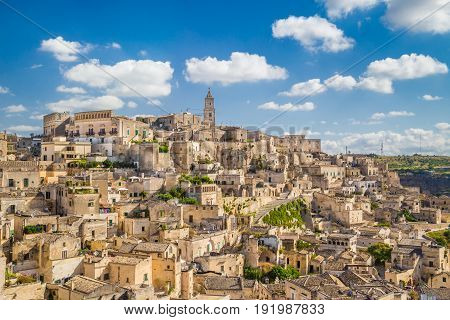 Ancient Town Of Matera (sassi Di Matera) At Sunrise, Basilicata, Southern Italy