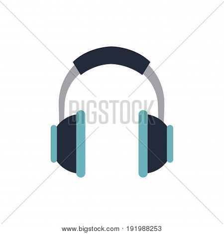 headphones music listen song volume vector illustration