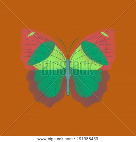 flat shading style icon butterfly summer nature