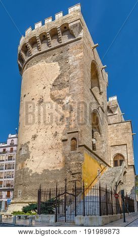 Quart Towers is part of the old medieval defensive wall in Valencia Spain