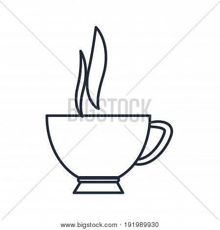 coffee cup hot beverage aroma fresh vector illustration