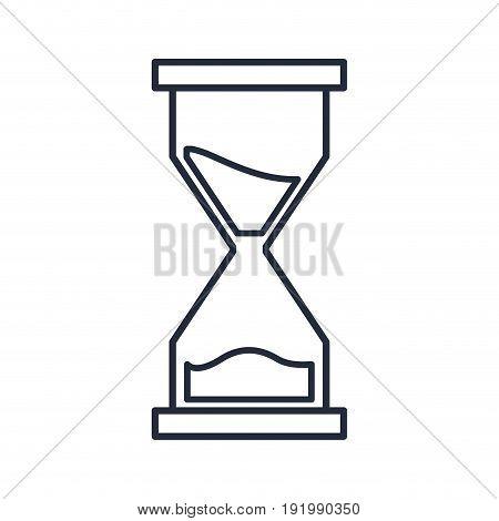 sand clock time supply school icon vector illustration