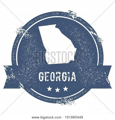 Georgia Mark. Travel Rubber Stamp With The Name And Map Of Georgia, Vector Illustration. Can Be Used