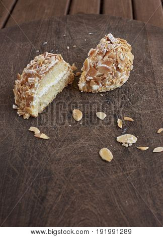 Sara Cake. Genoise Sponge Cake With Almonds.