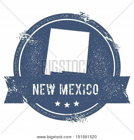 New Mexico Mark. Travel Rubber Stamp With The Name And Map Of New Mexico, Vector Illustration. Can B