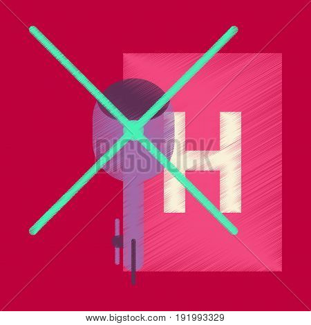 Flat Icon in Shading Style Helipad transport