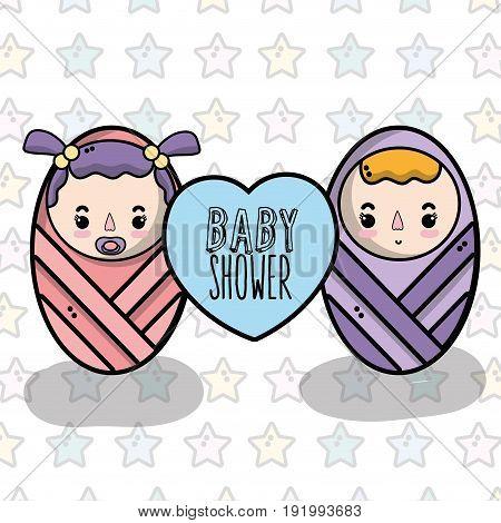 baby shower invitation to celebrate the new family member vector illustration
