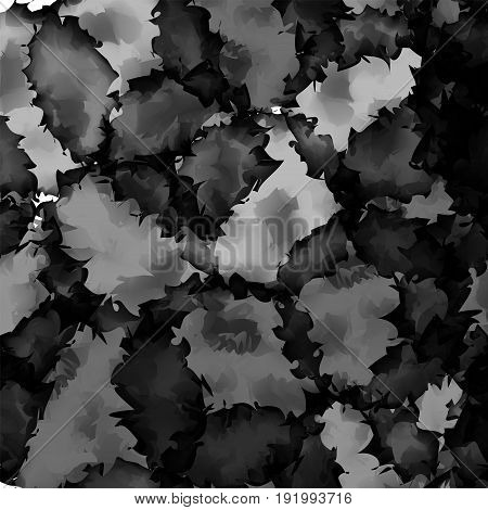 Dark Black And White Watercolor Texture Background. Beauteous Abstract Dark Black And White Watercol
