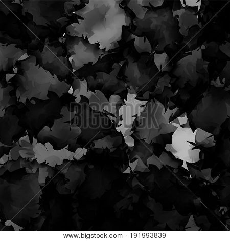 Dark Black And White Watercolor Texture Background. Classy Abstract Dark Black And White Watercolor