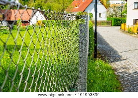 The Wire netting fence as a delimitation of the property