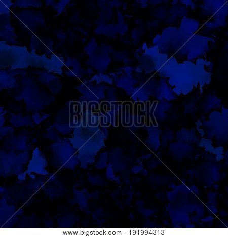 Dark Blue Watercolor Texture Background. Ideal Abstract Dark Blue Watercolor Texture Pattern. Expres