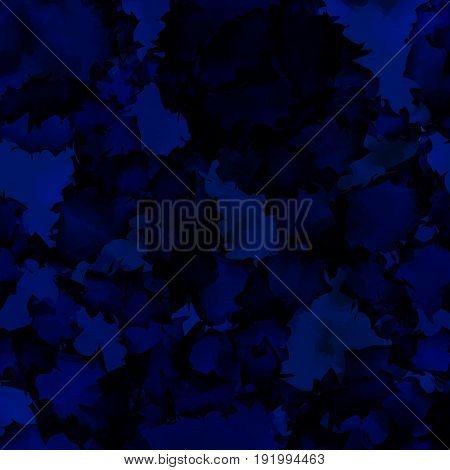 Dark Blue Watercolor Texture Background. Radiant Abstract Dark Blue Watercolor Texture Pattern. Expr