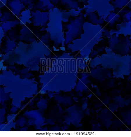 Dark Blue Watercolor Texture Background. Ravishing Abstract Dark Blue Watercolor Texture Pattern. Ex