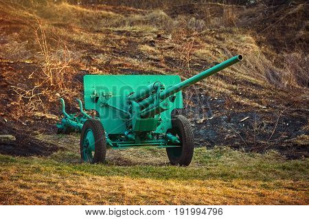 An Old Artillery Gun in the Field