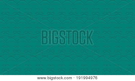 Seamless Abstract Background In Teal Tones With Scribbles