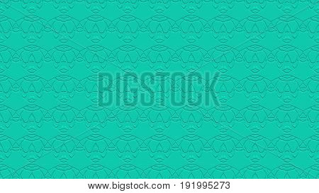 Seamless Abstract Background In Aqua Tones With Scribbles