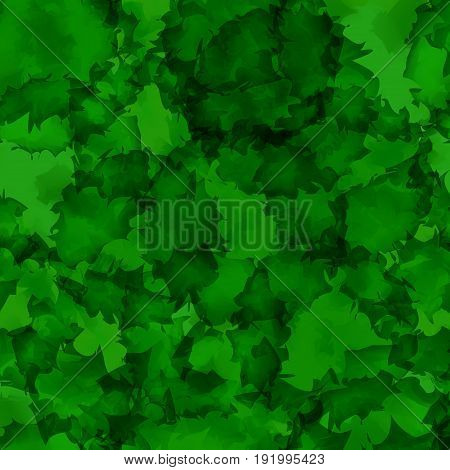 Dark Green Watercolor Texture Background. Enchanting Abstract Dark Green Watercolor Texture Pattern.
