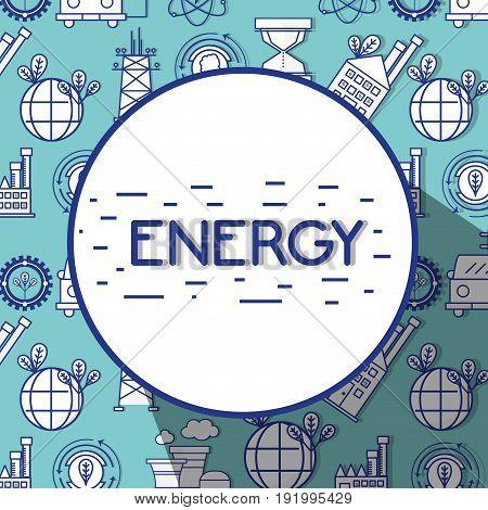 energy technology tools background design background vector illustration