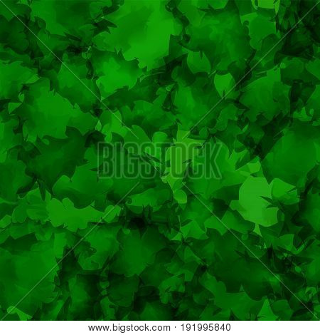 Dark Green Watercolor Texture Background. Pleasant Abstract Dark Green Watercolor Texture Pattern. E