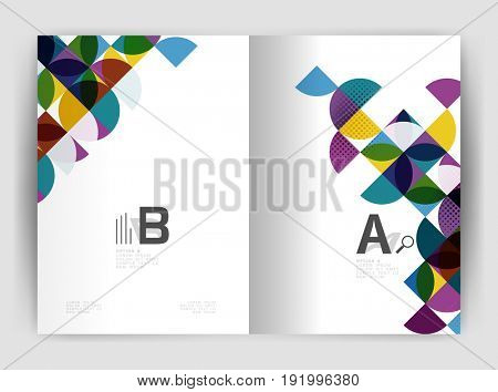 Abstract circle design business annual report print template. Business brochure or flyer abstract background