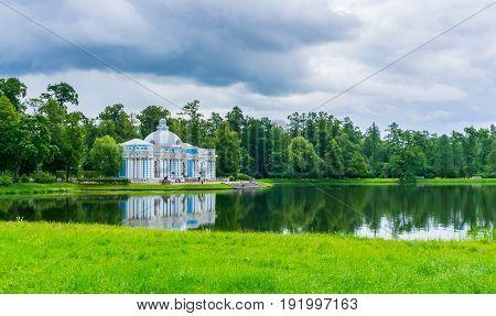 RUSSIA Tsarskoe Selo - JULY 20 2013. Grotto in Tsarskoye Selo