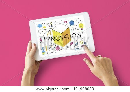 Illustration of innovation technology invention