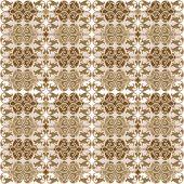 Seamless retro wallpaper tapestry in brown tones poster