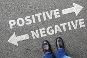 Negative positive thinking good bad thoughts attitude business concept decision decide choice poster