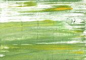 Hand-drawn abstract watercolor background. Used colors: Olivine White Moss green Medium spring bud Asparagus Middle Green Yellow Dollar bill Tea green Baby powder poster
